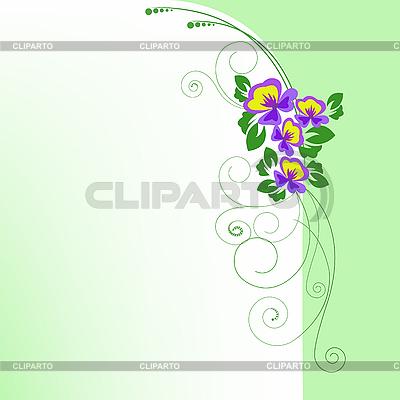 Arch fiołkami | Klipart wektorowy |ID 3133552