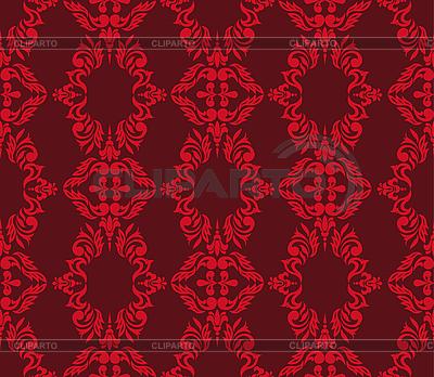 Rotes nahtloses florales Muster | Stock Vektorgrafik |ID 3133586