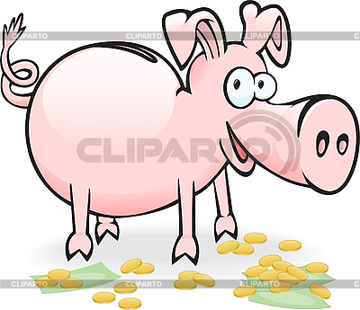 Schwein-Sparschwein | Stock Vektorgrafik |ID 3197815