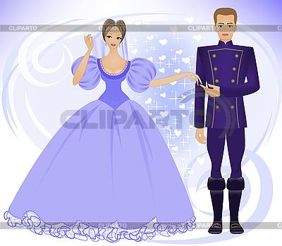 Książę i księżniczka | Stockowa ilustracja wysokiej rozdzielczości |ID 3203588