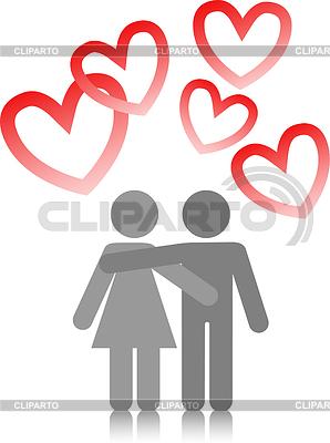 Junges Paar in Liebe | Stock Vektorgrafik |ID 3324287