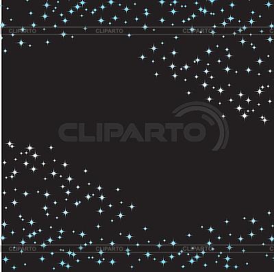 Schwarzer Hintergrund mit blauen Sternen | Stock Vektorgrafik |ID 3103136