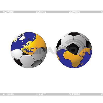 Football połączone w jedną całość i planety | Klipart wektorowy |ID 3181859