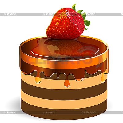 Kuchen mit Erdbeere | Stock Vektorgrafik |ID 3096135