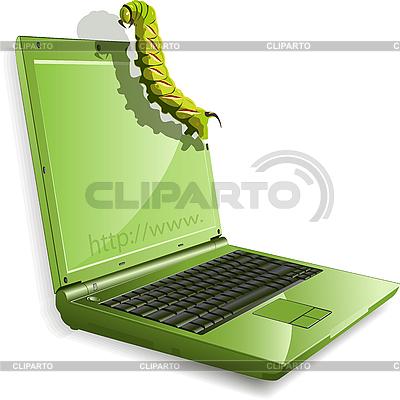 Gąsienice i notebook | Klipart wektorowy |ID 3096146