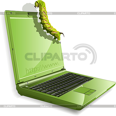 Raupe und Notebook | Stock Vektorgrafik |ID 3096146