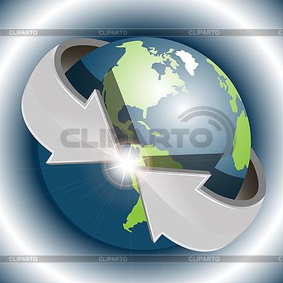 Globus ze strzałkami | Klipart wektorowy |ID 3099536