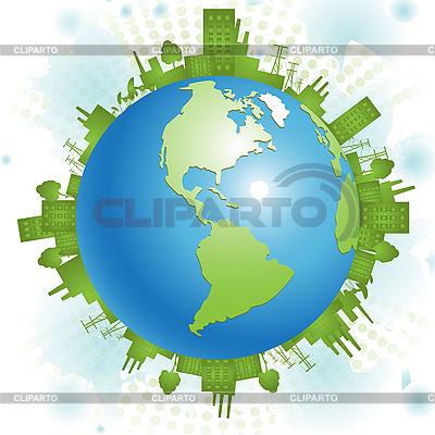 Grüneк Planet | Stock Vektorgrafik |ID 3130985