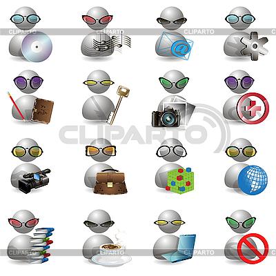 Иконки с человечками | Векторный клипарт |ID 3131105