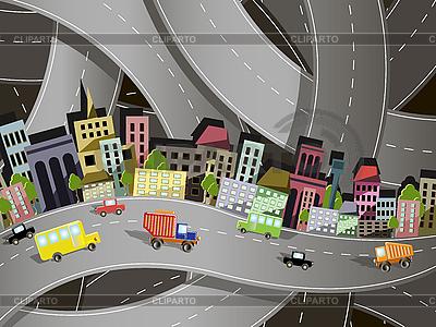 Stadt-Verkehr | Stock Vektorgrafik |ID 3144687