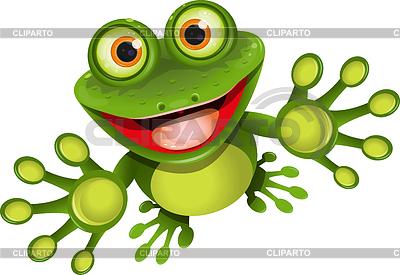 Fröhlicher Frosch | Stock Vektorgrafik |ID 3314509