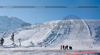 Skipiste am Wintersportort Bansko, Bulgarien | Foto mit hoher Auflösung |ID 3098158