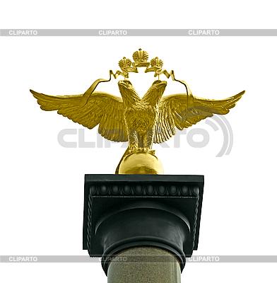 Brązowy dwugłowy orzeł. | Foto stockowe wysokiej rozdzielczości |ID 3099338