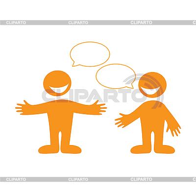 Gespräch zwischen zwei Personen | Stock Vektorgrafik |ID 3102340