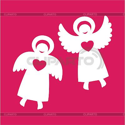 Два ангелочка | Векторный клипарт |ID 3103277