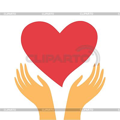Serce w ręce | Klipart wektorowy |ID 3103355