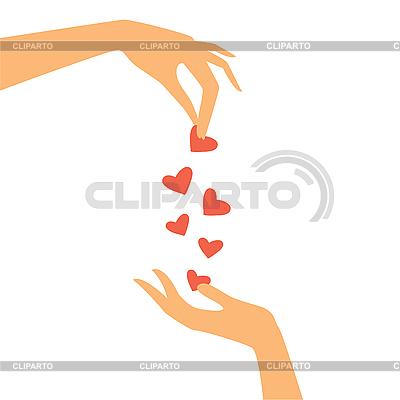 Hände mit Herzen | Stock Vektorgrafik |ID 3103361