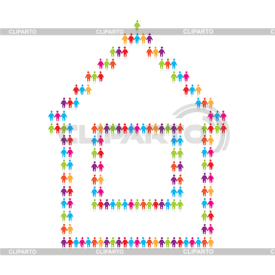 Haus für Menschen | Stock Vektorgrafik |ID 3103375