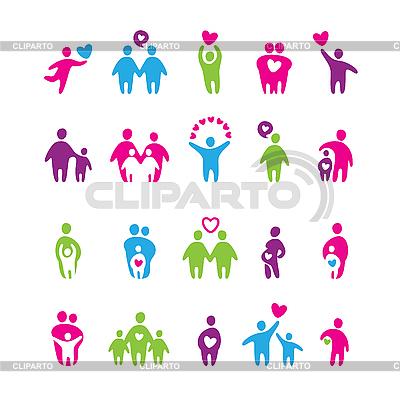 Ikon - miłość i rodzina | Klipart wektorowy |ID 3103381