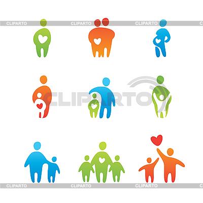 Miłość rodzicielska | Klipart wektorowy |ID 3103431