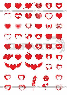 Herz-Icons | Stock Vektorgrafik |ID 3100041