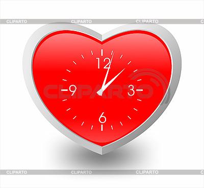 Serce jak zegar | Klipart wektorowy |ID 3100059