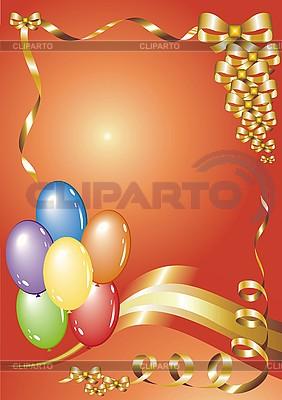 Glückwunschkarte mit Luftballons | Stock Vektorgrafik |ID 3102225