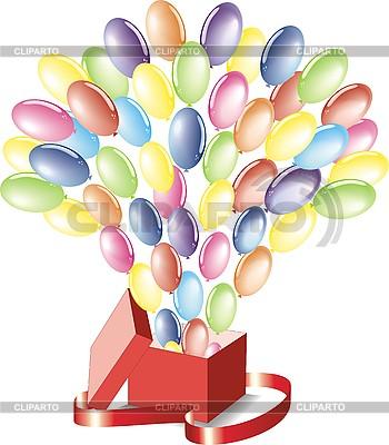 Luftballons fliegend aus einer Box | Stock Vektorgrafik |ID 3102243