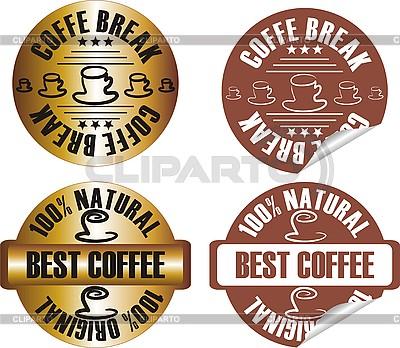 Set von Stempel - Kaffeepause | Stock Vektorgrafik |ID 3102372