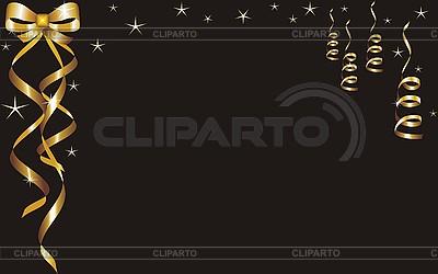 Karta z pozdrowieniami z taśmy złota | Klipart wektorowy |ID 3102428