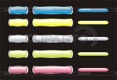 Set von glänzenden Web-Buttons | Stock Vektorgrafik |ID 3107747