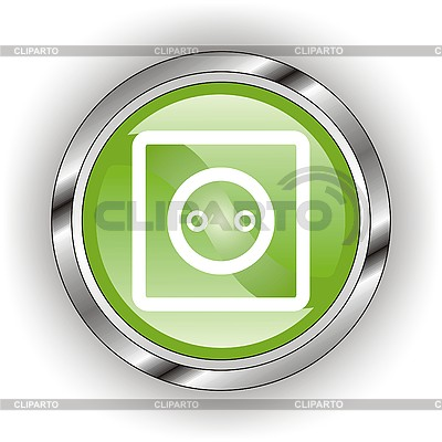 Glänzendes Icon für Steckdose | Stock Vektorgrafik |ID 3118800