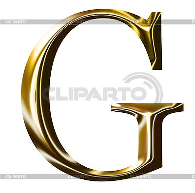 Goldenes Alphabet-Symbol - Großbuchstaben | Illustration mit hoher Auflösung |ID 3123182