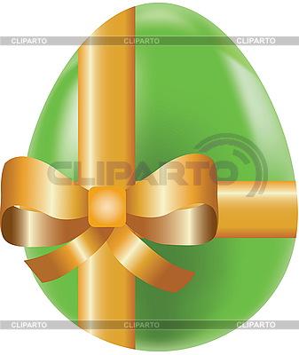 Kolorowe pisanki zdobione kokardką, symbol wakacyjne | Klipart wektorowy |ID 3166327