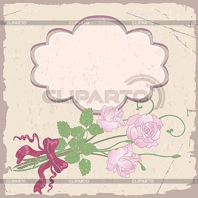 Romantyczna ramka z różami | Klipart wektorowy |ID 3109083