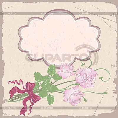 Romantischer Rahmen mit Rosen | Stock Vektorgrafik |ID 3109083