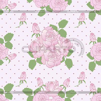 Seamless romantyczny wzór z róż | Klipart wektorowy |ID 3122935