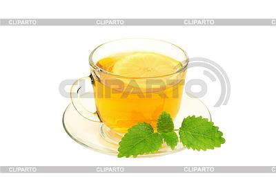 Tea with lemon and lemon balm | Foto stockowe wysokiej rozdzielczości |ID 3313855