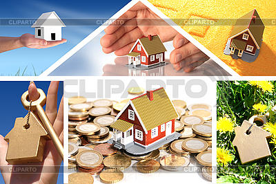 Inwestowanie w nieruchomości. Kolaż biznesowych | Foto stockowe wysokiej rozdzielczości |ID 3107397