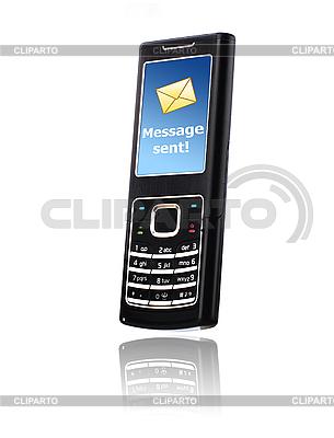 휴대 전화입니다. 메시지 개념을 보내기. | 높은 해상도 사진 |ID 3107409
