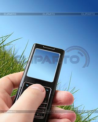 Handy in der Hand | Foto mit hoher Auflösung |ID 3108267