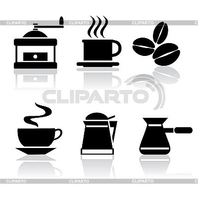 Kaffee-Symbole | Stock Vektorgrafik |ID 3125627