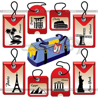 Touristische Sehenswürdigkeiten | Stock Vektorgrafik |ID 3159417