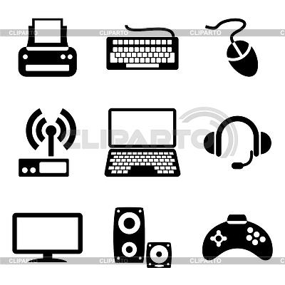 Ikony urządzeń komputerowych | Klipart wektorowy |ID 3227896