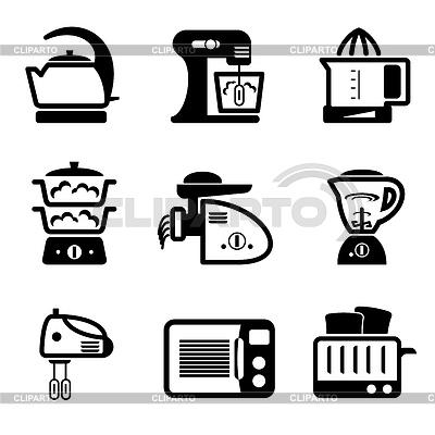 Ikony kuchenne | Klipart wektorowy |ID 3330656