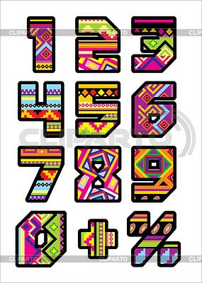 Meksykanin numery | Klipart wektorowy |ID 3346333