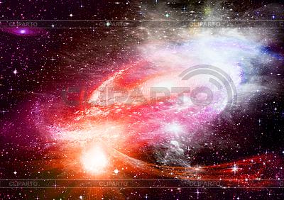 Галактика в космическом пространства | Иллюстрация большого размера |ID 3112593