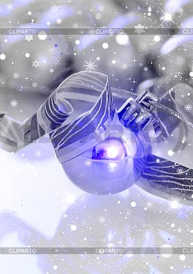 Christmas kulkowe i płatki śniegu | Stockowa ilustracja wysokiej rozdzielczości |ID 3112632