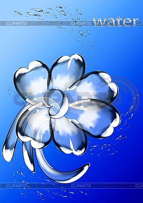 Blume von Wassertropfen | Illustration mit hoher Auflösung |ID 3112648
