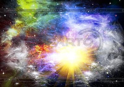 Абстрактный космический фон со звездами | Иллюстрация большого размера |ID 3112672